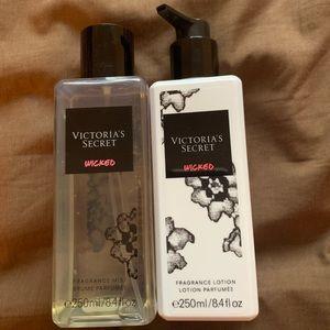 Victoria Secret lotion and spray